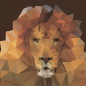 Lion in the style of origami — Stock Photo