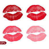 Print set of pink lips. Vector illustration on a white background. EPS — Stock Vector