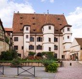 "Medieval building named ""Hotel of Ebersmunster"" in Selestat. Alsace, France — Stock Photo"