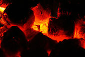 The fiery flames — Stock Photo