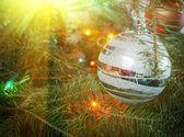 Fond coloré de Noël — Photo