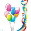Colored ribbons and balloons — Stock Photo #54230981