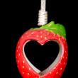 Heart in Red ceramic strawberry — Stock Photo #52665463