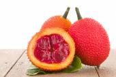 Baby Jackfruit on wooden background — Stock Photo