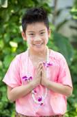 Cute Asian boy smiling — Stock Photo