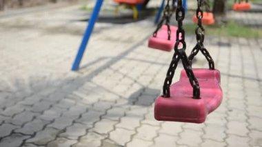 Asian child playing playground — Vidéo