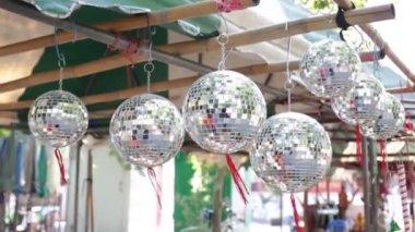 Mini Disco Ball on sale in the shop — Stock Video