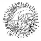 いたずら書きのヘンナ ペーズリー一時的な刺青のデザイン要素. — ストックベクタ