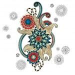 Henna Paisley Mehndi Doodles Design Element. — Stock Vector #52689085
