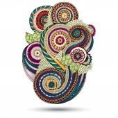 Henna Paisley Floral Vector Design Element. — Stock Vector