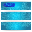 Abstract hand drawn ethnic pattern card set. — Stock Vector #55269647
