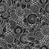 Seamless flower retro background in vector. — Stok Vektör