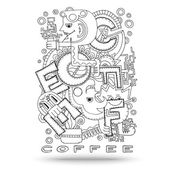 Doodle element with concept of a creative idea. — ストックベクタ