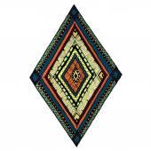 Original drawing tribal doddle rhombus. — Stock vektor