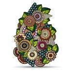 Henna Paisley Mehndi Doodles Design Element. — Stock Vector #56365385