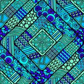 Geometrik öğelerle seamless modeli. — Stok Vektör