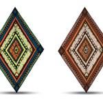 Set of original drawing tribal doddle rhombus. — Stock Vector #56673313