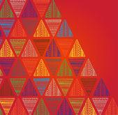 Unique hand drawn triangle pattern. — Stock Vector