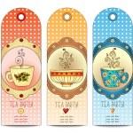 Tea, coffee, sweets template pattern invitation. — Stock Vector #57404673