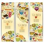 Banner templates vector collection. Tea party. — Stock Vector #57404857