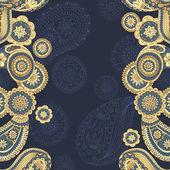 Henna paisley mehndi doodles asian design pattern. — Stock Vector