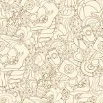 Summer vector seamless grunge background — Stock Vector #57685487