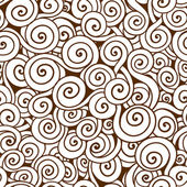 White and brown seamless wave pattern. Seamless background can be used for wallpaper, pattern fills, web page background,surface textures. Used clipping mask for easy editing. — Stock Vector