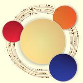 Abstract Circle Vector illustration. — Stock Vector