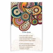 Set of  doodle paisley posters for your business — Vecteur