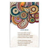 Set of  doodle paisley posters for your business — Vector de stock