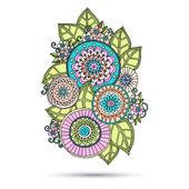 Henna Paisley Mehndi Doodles Abstract Floral Vector Illustration Design Element. — Stock Vector