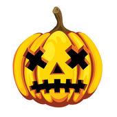 Halloween zucca — Vettoriale Stock