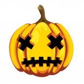 Zucca di halloween — Vettoriale Stock
