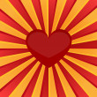 Sunburst red heart — Stock Vector #58042235