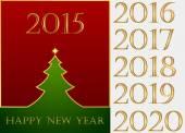 Happy New Year. Set — Vector de stock