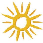 Orange Sun. Sign — Stock Vector