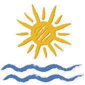 Sun and sea — Stock Vector