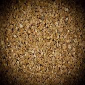 Background texture of cork board closeup with vignette — Fotografia Stock