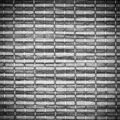 Textura pozadí černé a bílé dřevo a provaz closeup s viněta — Stock fotografie