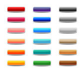 Set of colored web buttons — Stock Vector