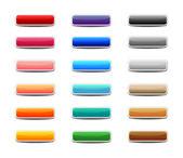 Set gekleurde web buttons — Stockvector