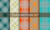 Plaid Patterns. Vector set. — Stock Vector
