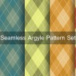 Seamless argyle pattern. Diamond shapes background. Vector set. — Stock Vector #53810005