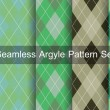 Seamless argyle pattern. Diamond shapes background. Vector set. — Stock Vector #53810089