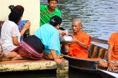 NONTHABURI, THAILAND - November 6 : Buddhist monk is the alms on — Stock Photo