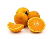 Orange fruit isolated on white background. — Stock Photo
