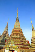 Authentic Thai Architecture in Wat Pho at Bangkok of Thailand. — Stock Photo