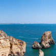 Panoramic view of rock formation near Lagos in Portugal — Stock fotografie #55331013