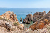 Ponta da Piedade, rock formations near Lagos in Portugal — Stock Photo