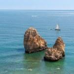 Ponta da Piedade, rock formations near Lagos in Portugal — Stock Photo #55854267